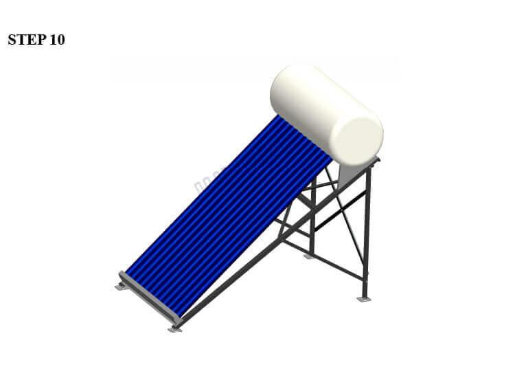 installation of solar water heaters-stainless steel screws