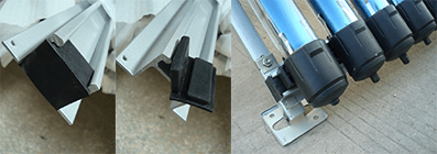 Rubber Block for Sliding Chute of Solar Collector installation