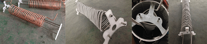 holder of copper coil or stainless steel corrugated pipe