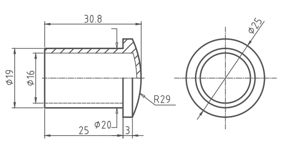 the drawing of protect cap for header pipe