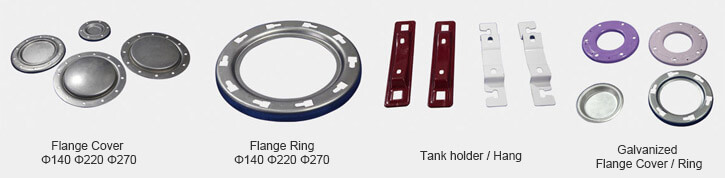 accessories of pressurized tank covers