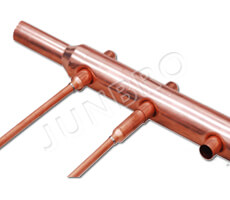 manifold header pipe for solar collector