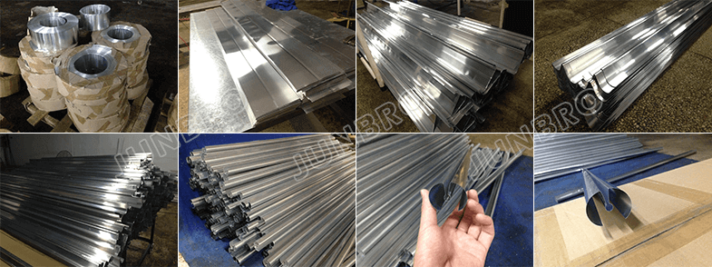 workshop of aluminum fins